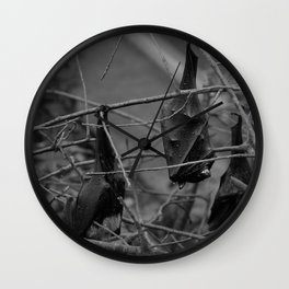 Dark Bat Laughs Wall Clock