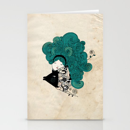 Pisces Girl Stationery Cards