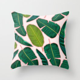 Banana Leaf Blush #society6 #decor #buyart Throw Pillow