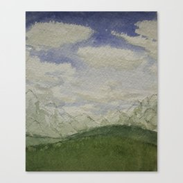 Watercolor Mountains Canvas Print