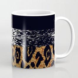 ANIMAL PRINT CHEETAH LEOPARD BLACK AND GOLDEN BROWN Coffee Mug