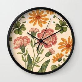 Wild Flowers ~ vol3. ~ light Wall Clock