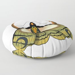 Moth and moon Floor Pillow