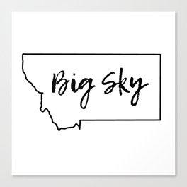 Big Sky, Montana Canvas Print