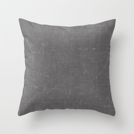 Gray and White School BlackBoard Throw Pillow