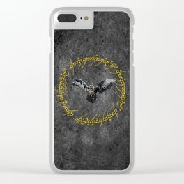 Eagle The Dark Lord Clear iPhone Case
