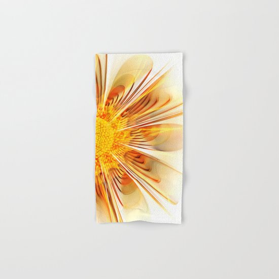 Summer Fractal Flower Hand & Bath Towel