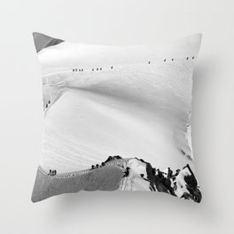 Team of mountaineers Throw Pillow