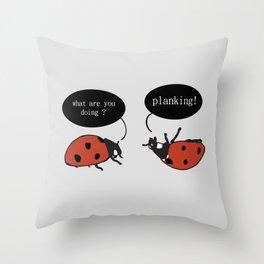 Planking Throw Pillow
