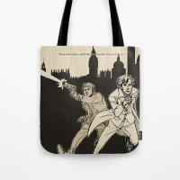 heroes Tote Bags featuring Heroes by salternates