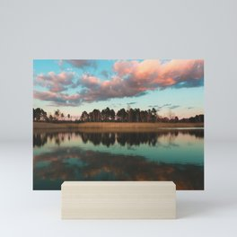 Reflection on the lake Mini Art Print