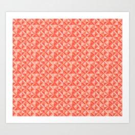 Geometic pattern Art Print