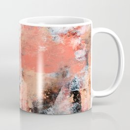 11.3: A bright abstract contemporary design in pinks black and white by Alyssa Hamilton Art  Coffee Mug