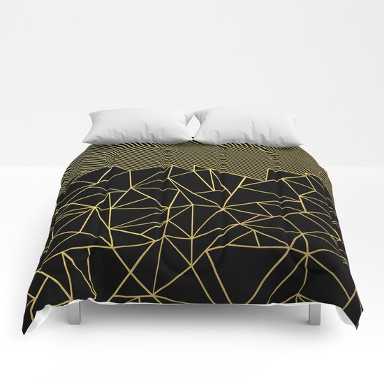 Ab Lines 45 Gold Comforters