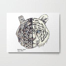 Tiger Machine Metal Print