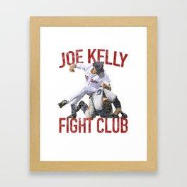 Vintage Red Tee Club Joe Kelly Fight Boston Baseball Fan Framed Art Print