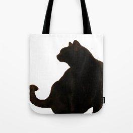 Halloween Black Cat Silhouette  Tote Bag