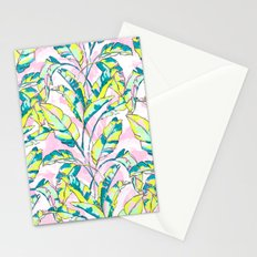 Neon Banana Leaves Stationery Cards