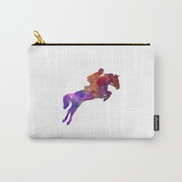 Horse show 01 in watercolor Carry-All Pouch