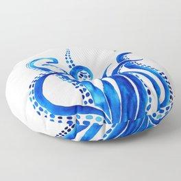 Blue Octopus Floor Pillow