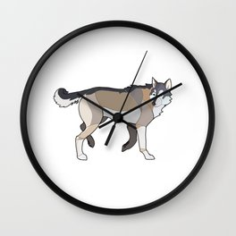Geometric Wolf Wall Clock