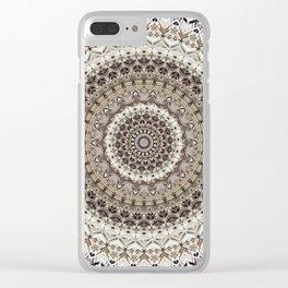 Mandala 451 Clear iPhone Case