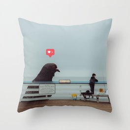 Don't Feed The Birds Throw Pillow