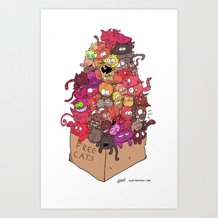 Free Cats Art Print