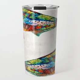 Colorful Dolphin Fish by Sharon Cummings Travel Mug