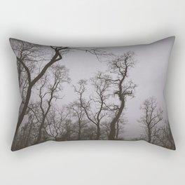Ghost Trees Rectangular Pillow