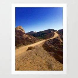 California Canyon Trail Art Print