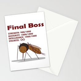 Final Boss - Red Letters Stationery Cards