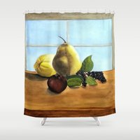 fruit Shower Curtains featuring Fruit by Ramari Tauroa-Tibble