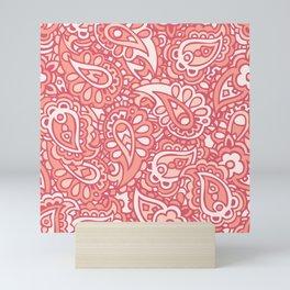 Paisley in dark and light pink Mini Art Print
