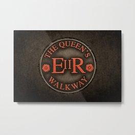 The Queen's Walkway Walking Path Marker Windsor England in Red Metal Print