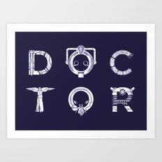 DOCTOR (Letters) Art Print