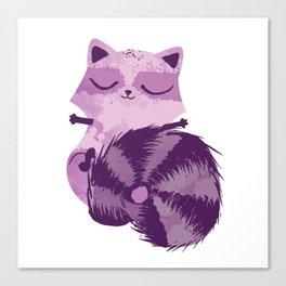 Sleepy Raccoon Canvas Print