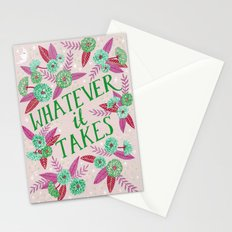 Whatever it Takes - Pink Stationery Cards