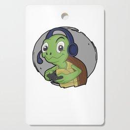 gaming turtle animal online cool video gamer kids gift idea Cutting Board