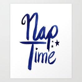 Nap Time   Lazy Sleep Typography Art Print