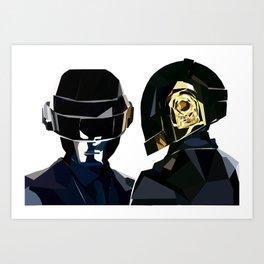 Daft Punk Poly Study Art Print