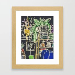 view from the couch II Framed Art Print