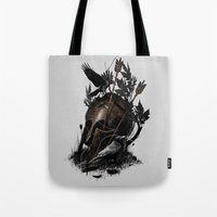 fall Tote Bags featuring Legends Fall by nicebleed