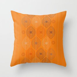 Moroccan silk in orange Throw Pillow
