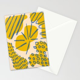 Abstract minimalism shapes - colorful minimalism print - minimal palette design print Stationery Cards