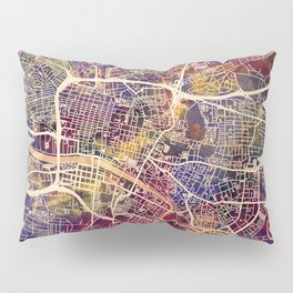 Glasgow City Scotland Street Map Pillow Sham
