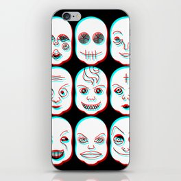 Pediophobia iPhone Skin