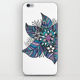Line Floral iPhone Skin