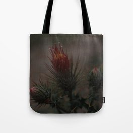 Red Thistle Tote Bag