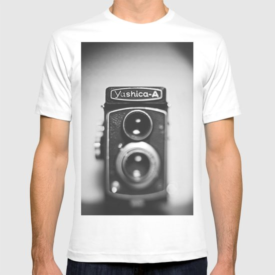 Yashica-A black and white T-shirt